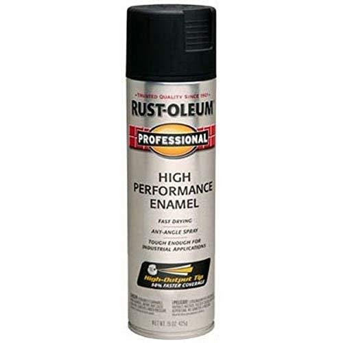 Rust-Oleum 239107 Professional High Performance Enamel Spray Paint, 15 oz, Semi-Gloss Black