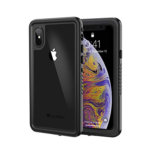 Lanhiem Cover iPhone X Impermeabile,Custodia Impermeabile iPhone XS[IP68 Certificato Waterproof ] Full Body con Protezione dello Schermo Antiurto Antineve...