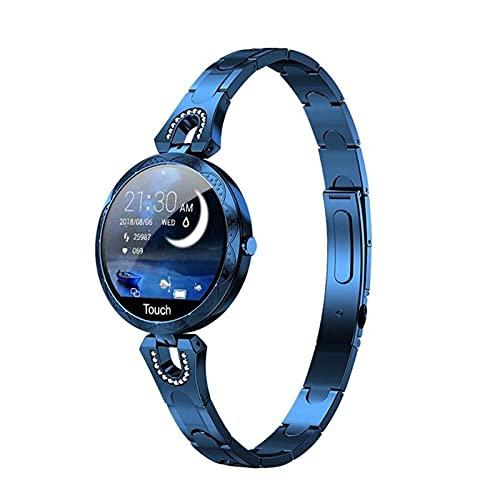 L.B.S Reloj Inteligente de Regalo de Moda 2021 para Mujer, Dispositivo portátil Resistente al Agua, Monitor de Ritmo cardíaco, Reloj Inteligente Deportivo, Modelo Femenino AK15 para Android iOS(C)