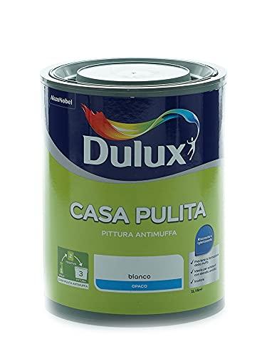 Dulux Casa Pulita Pittura per Interni Antimuffa Rimuove e Protegge Da Muffe e Funghi, 1 Litro, Bianco