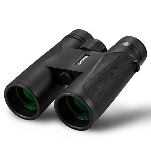 Dessports 12x42 Binoculars for Adults Bird Watching Hunting Compact Binocular Telescope Outdoor Gifts for Men Lightweight Optics Hiking Travel Camping
