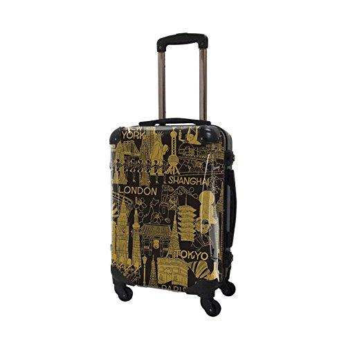 [キャラート] アート スーツケース ポップニズム シティ フレーム4輪 機内持込 S 機内持込可 保証付 31L 57cm 3.2kg CRA01H-045D キャメル×ブラック キャメル×ブラック