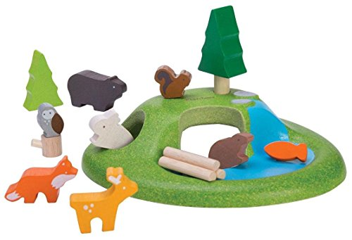 PLAN TOYS- Animal Set, Color Madera (Plantoys 6625)