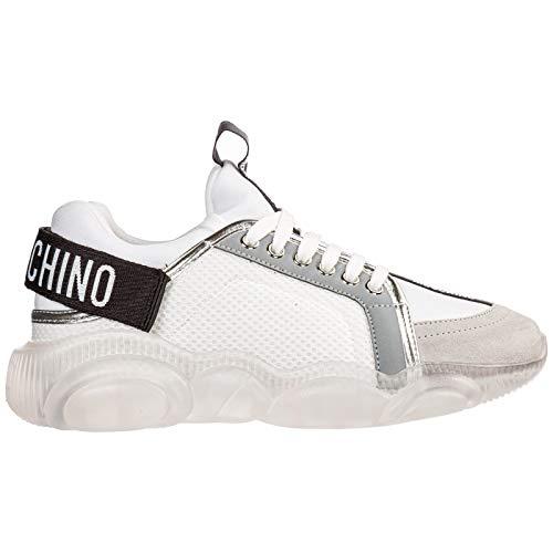 Moschino Damen Teddy Sneaker Bianco 36 EU