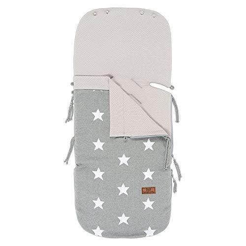 Baby's Only - Sommer Fußsack Autositz 0+ Star grau/weiß