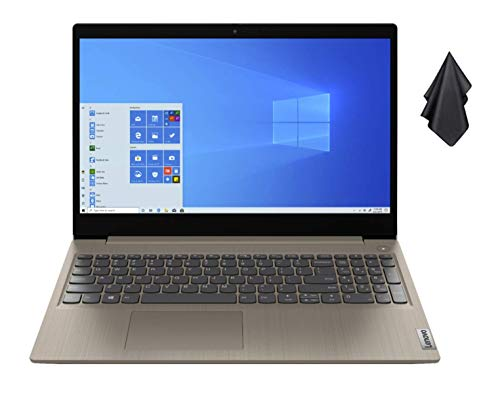 "2021 New Lenovo IdeaPad 3 15"" HD Touch Screen Laptop, Intel Dual-Core i3-1005G1 Up to 3.4GHz (Beats i5-7200u), 12GB DDR4 RAM, 256GB PCI-e SSD, Webcam, WiFi 5, HDMI, Windows 10 S + Oydisen Cloth"