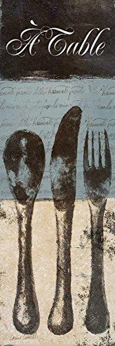 WANDAFBEELDING-op-CANVAS-Een-tafel-Loreth-Lanie-Hedendaags-Print-op-canvas-op-houten-frame-voor-wanddecoratie-Afbeelding-gedruckt-op-ingelijst-canvas-100%-Afmeting-121_X_39_cm
