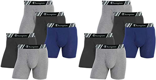 Champion Elite Men's Boxer Briefs 10-Pack All Day Comfort Double Dry X-Temp Slightly Imperfect