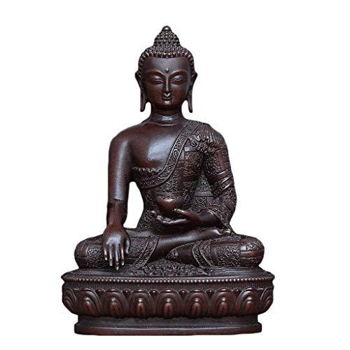 ADUEYE Pure Copper Sakyamuni Buddha Statue Decoration Indoor Home Office Desk Zen Meditation Decoration (Color : Bronze)