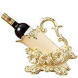 ZWS Botelleros Estante de cerámica Beige del Vino del Ciruelo, Soporte Creativo del Vino del Soporte de exhibición del gabinete del Vino de la Sala de Estar (Color : Beige)