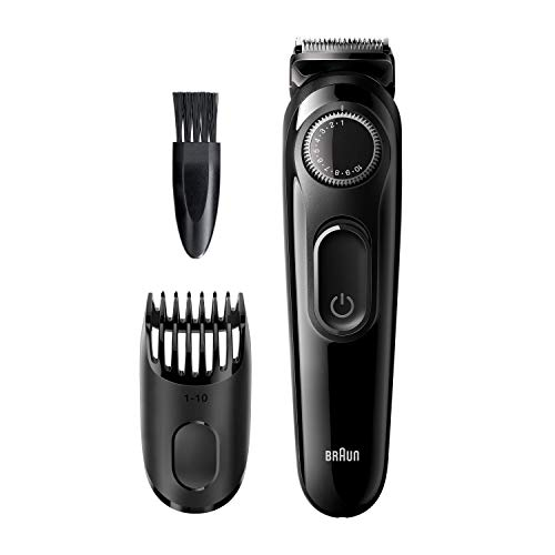 Braun BT3222 - Recortadora de Barba con Dial de Precisión y 1 Peine para Hombre, Cuchillas Afiladas de Larga Duración, color Negro