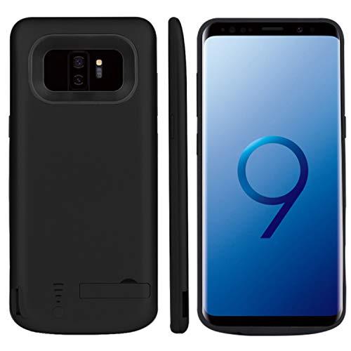 Huije Funda Batería para Samsung Galaxy S9 Plus, 5000mAh Funda Cargador Portatil Batería Externa Carcasa Batería Recargable Power Bank Case - Negro