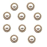 10pcs Round Pearl Buttons with Shank for...