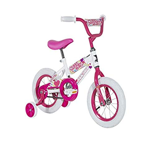 Magna Girls 12' Sweet Heart Bike, Small, White/Pink