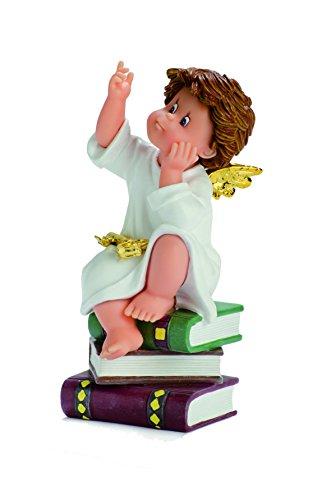 Nadal Figura Decorativa ángel guardián, Resina, Multicolor, 8.50x9.50x16.50 cm