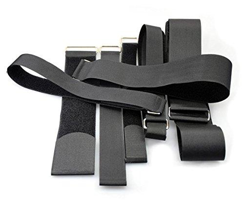 2 x Adjustable velc Hook & Loop Luggage Tie Belt Bag Travel Fasten Strap Width 25-50mm Length 40-200cm (50mm(2') x 100cm)