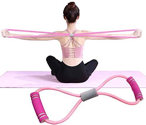 トレーニング チューブ フィットネスチューブ ゴムチューブ 全身筋トレ 筋力トレーニング 女性 初心者 美尻 レジスタンスバンド エクササイズチューブ マルチチューブ(新型 ピンク)