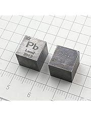 10 mm Cubo Metal Plomo 99,99% Alta Pureza Cubo Plomo Metal Tallado Elemento Periódico Tabla Cubo