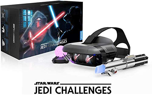 Lenovo ZA390011GB Star Wars: Jedi Challenges AR Headset with Lightsaber Controller & Tracking Beacon