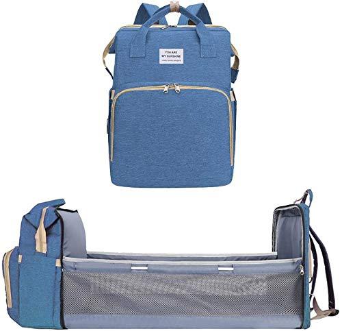 RYH Wickeltasche Rucksack, multifunktional große Kapazität faltbar, Reisetasche kann in EIN kleines Bett verwandelt Werden Farblich abgestimmt