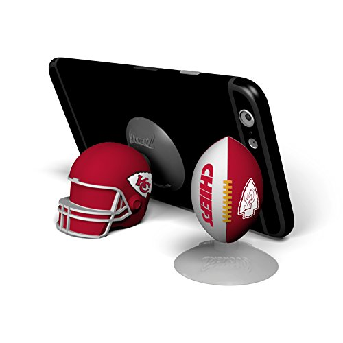 NFL Sports Suckerz Kansas City Chiefs Football & Helmet Phone Stand