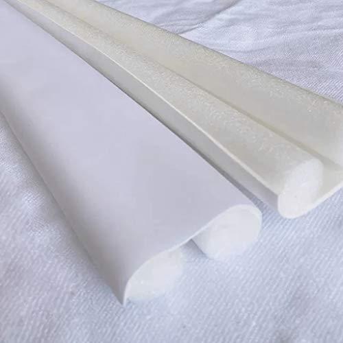 XUNXI Tira de Sellado, 93 cm Tira de Sellado Inferior de Puerta Flexible Protector Sellador Tapón Burlete Bloqueador de Polvo de Viento Blanco