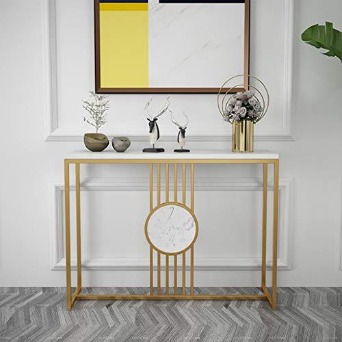 Lagerung Hotel Console Tables for Flur Schlank, Modern Einfachheit Eingang Schrank Wohnzimmer-Dekoration Rechteck Marmortische Bequem und schön (Color : Gold, Size : 100 * 30 * 80CM)