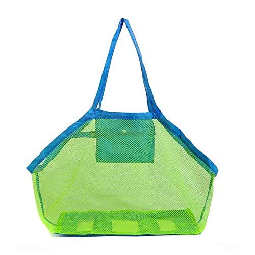 GeekerChip Strandtasche Strandspielzeug sandspielzeug Tasche,Netztasche Große Strandtasche Grün,Aufbewahrungstasche für Strandspielzeug Faltbare(Grün)