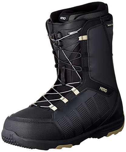 Nitro Snowboards Herren THUNDER TLS '20 All Mountain Freeride Freestyle Schnellschnürsystem günstig Boot Snowboardboot, Black, 32.0