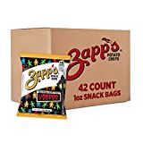 Zapp's New Orleans Kettle-Style Potato Chips, Voodoo Flavor – 1 oz. Chips Bags (42 Count), Crunchy Chips with Salt and Vinegar tang and smoky BBQ sweetness, Gluten Free, Perfect On-The-Go Snack