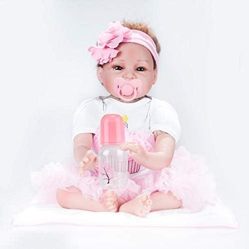 HSDDA Puppenkissen 22 Inchs Reborn Babypuppen Simulation Silikon Rag Dolls Spielzeug Früherziehung Babys Requisiten mädchen Geburtstagsgeschenke 55cm Cartoon-Plüschkissen