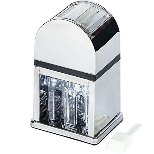 Stainless Steel Ice Crusher, Commercial Bar Ice Machine Hand Crank Ice Blender Ice Shaver Machine Snow Cone Machine Chicken Tail Wine Ice Pellet Machine