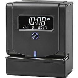 Lathem Heavy Duty Maintenance-Free Thermal Print Time Clock (2100HD), Black, 9.8 x 6 x 8