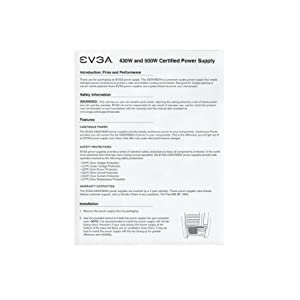 EVGA 500W 80PLUS Certified ATX12V/EPS12V Power Supply 100-W1-0500-KR