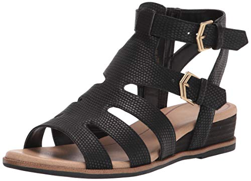 Dr. Scholl's Shoes Women's Friday Sandal, Black Snake, 9