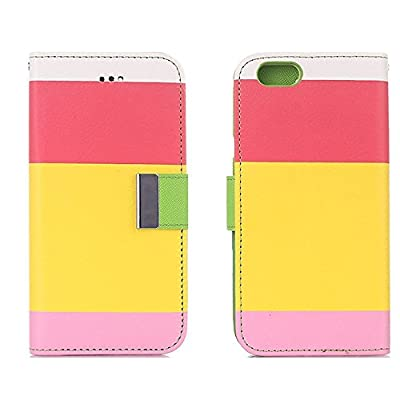iPhone Case Cover for iPhone 6s Plus,elecfan Candy PU Leather Case,Magnetic Closure,Protective Wallet Case Cover with Card Holders for 5.5 inch iPhone 6 Plus/6S Plus - A04