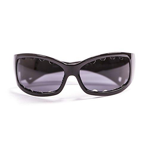 Ocean Sunglasses Fuerteventura zonnebril, gepolariseerd, frame zwart gelakt, glazen: rook (1112.0)