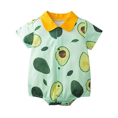 DaMohony Mameluco infantil niño niña mono bebé fiesta ropa de una pieza estampado aguacate