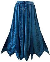 Agan Traders 714 SK Medieval Asymmetrical Hem Skirt (L/XL, Blue)