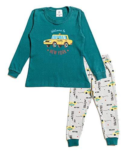 Nuribom Pijama para niños y niñas – Pijamas para niños – Algodón Jammies para niños de 12 meses a 8 años, Taxi de NewYork, 3 años