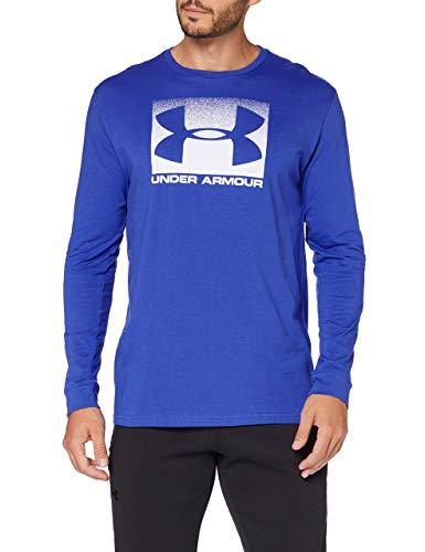 Under Armour Boxed Sportstyle LS, Camiseta de Manga Larga Hombre, Azul (Jupiter Blue/White), M