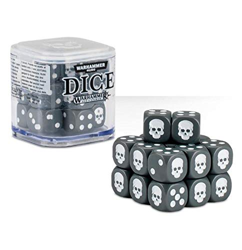 Warhammer 40,000 40K & Age of Sigmar Dice (12mm) - Color Varies (Red, White, Blue, Green, Black or Grey)