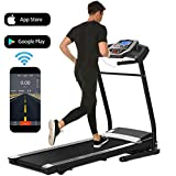 Folding Electric Treadmill Incline Motorized Running Machine Smartphone APP...