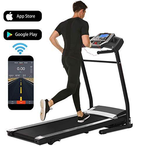 Treadmill for Home Folding Electric Treadmill with Incline Running Machine Exercise Machine for Home Gym Office Smartphone APP Control (Black(2.25HP-APP Control)) Categories