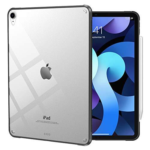 Dadanism iPad Air 4th Generation iPad Air 4 Case 2020 iPad 10.9 inch, Flexible TPU Air-Pillow Edge Bumper Cushion Slim Transparent Cover Shell, Support Apple Pencil Charging, Black