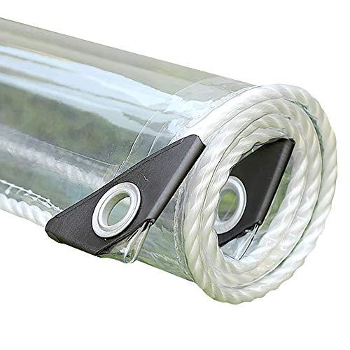 DGDG Mantel de PVC Transparente Lona, Plantas de jardín/Muebles Patios/Galería/Ventanas a Prueba de Lluvia de Tela, Resistente a los Rayos UV, for Trabajo Pesado (Size : 1x2.5m)