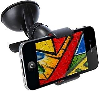 مسند وحامل عالمي مناسب لأجهزة التابلت وهاتف ايفون 6/ايفون 6 اس يثبت على زجاج مقدمة السيارة مع قاعدة تثبيت دوارة بدرجة 360،...