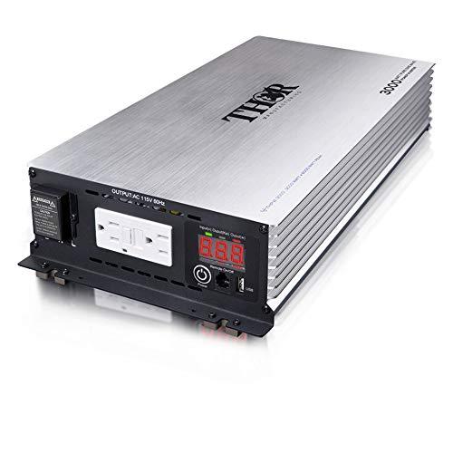 THOR MANUFACTURING - 3000 Watt Pure SINE Wave Inverter 12V with USB