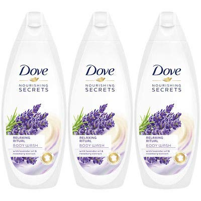 Dove Relaxing Ritual, Lavender Oil & Rosemary Body Wash - 3 Packs x 16.9 Fl.Oz / 500ml Ea