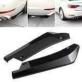 RUNGAO 2Pcs Car Universal Rear Bumper Lip Diffuser Splitter Canard Protector Black